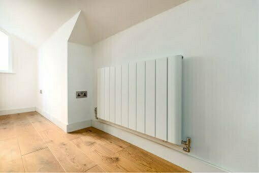 A newly refurbished home with modern radiator
